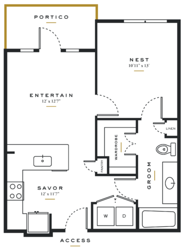 Essence on Maple One Bedroom Floor Plans A1