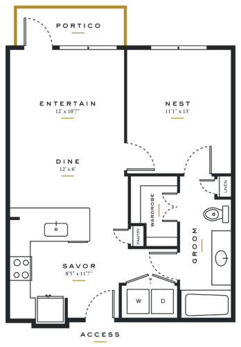Essence on Maple One Bedroom Floor Plans A2