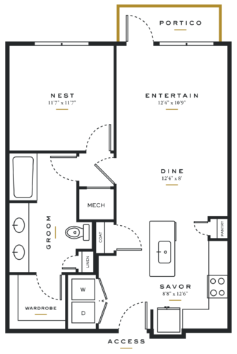 Essence on Maple One Bedroom Floor Plans A4