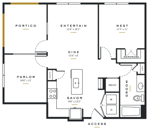 Essence on Maple One Bedroom Floor Plans A5