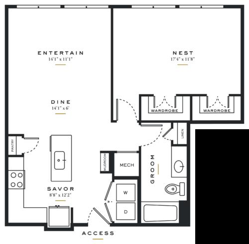Essence on Maple One Bedroom Floor Plans A6