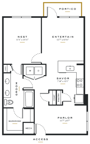 Essence on Maple One Bedroom Floor Plans A7