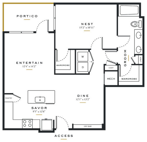 Essence on Maple One Bedroom Floor Plans A8