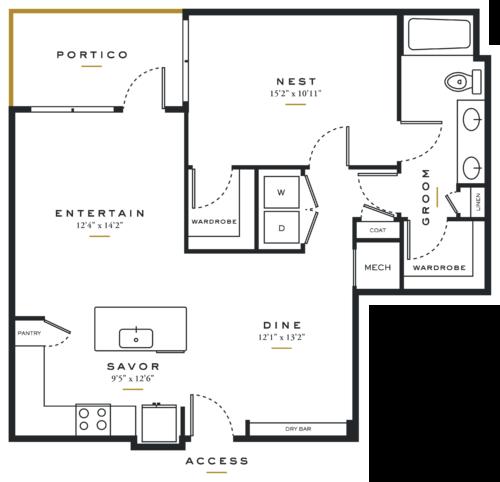 Essence on Maple One Bedroom Floor Plans A8
