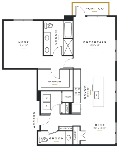 Essence on Maple One Bedroom Floor Plans A9
