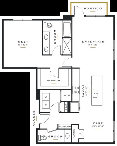 Essence on Maple One Bedroom Floor Plans A9
