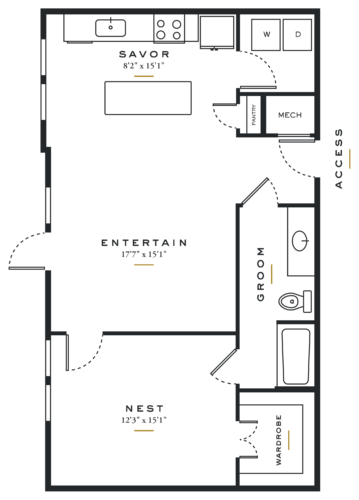 Essence on Maple One Bedroom Floor Plans L2