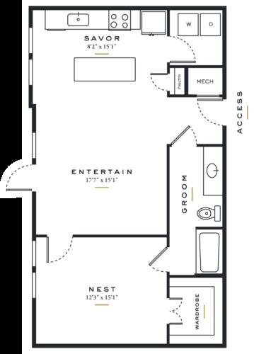 Essence on Maple One Bedroom Floor Plans L2