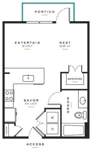 Essence on Maple Studio Floor Plans E1
