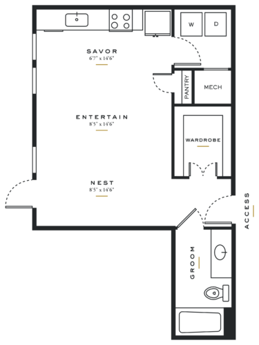 Essence on Maple Studio Floor Plans E2