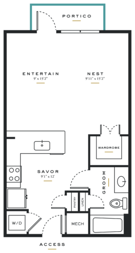 Essence on Maple Studio Floor Plans E3