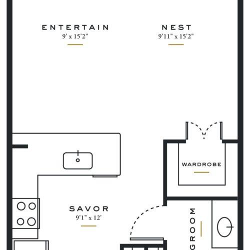 E3 – Studio / 1 Bath in Dallas