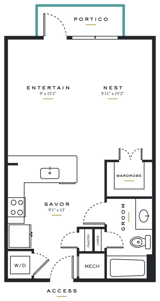 E3 – Studio / 1 Bath in Dallas